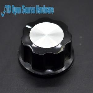 10pcs MF-A03 A03 potentiometer knob Bakelite knob potentiometer knob aluminum cap bakelite(China)