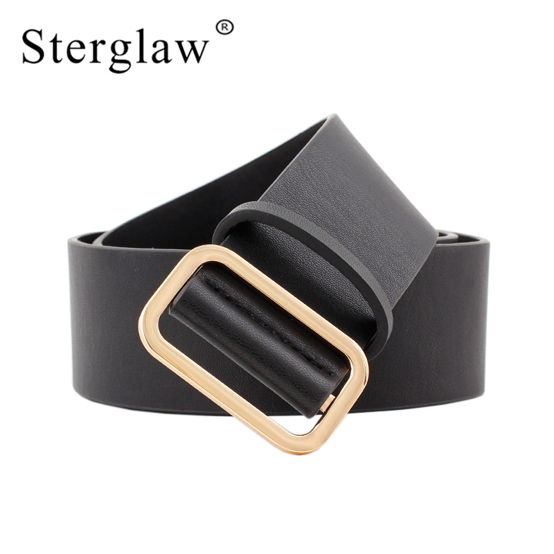 105x4.8cm New Female Black Coffee Brown Woman's Wide Belts For Women Jeans Leather Waist Strap Belt Feminine Ceinture Femme N250