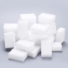 100 pcs/lot Melamine Sponge Magic Eraser Cleaner For Kitchen Office Bathroom Cleaning Tools Nano 8x5x3cm