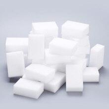 100 unids/lote esponja de melamina Borrador de esponja mágico limpiador de melamina para Cocina Oficina Herramientas de limpieza de baño esponja 8x5x3cm