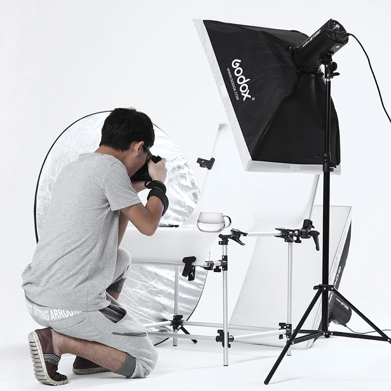 godox photography light set studio flash softbox clothes photographic equipment light bulb adearstudio flash camara digital godox gt400 professional slr studio flash photographic equipment lamp cd50