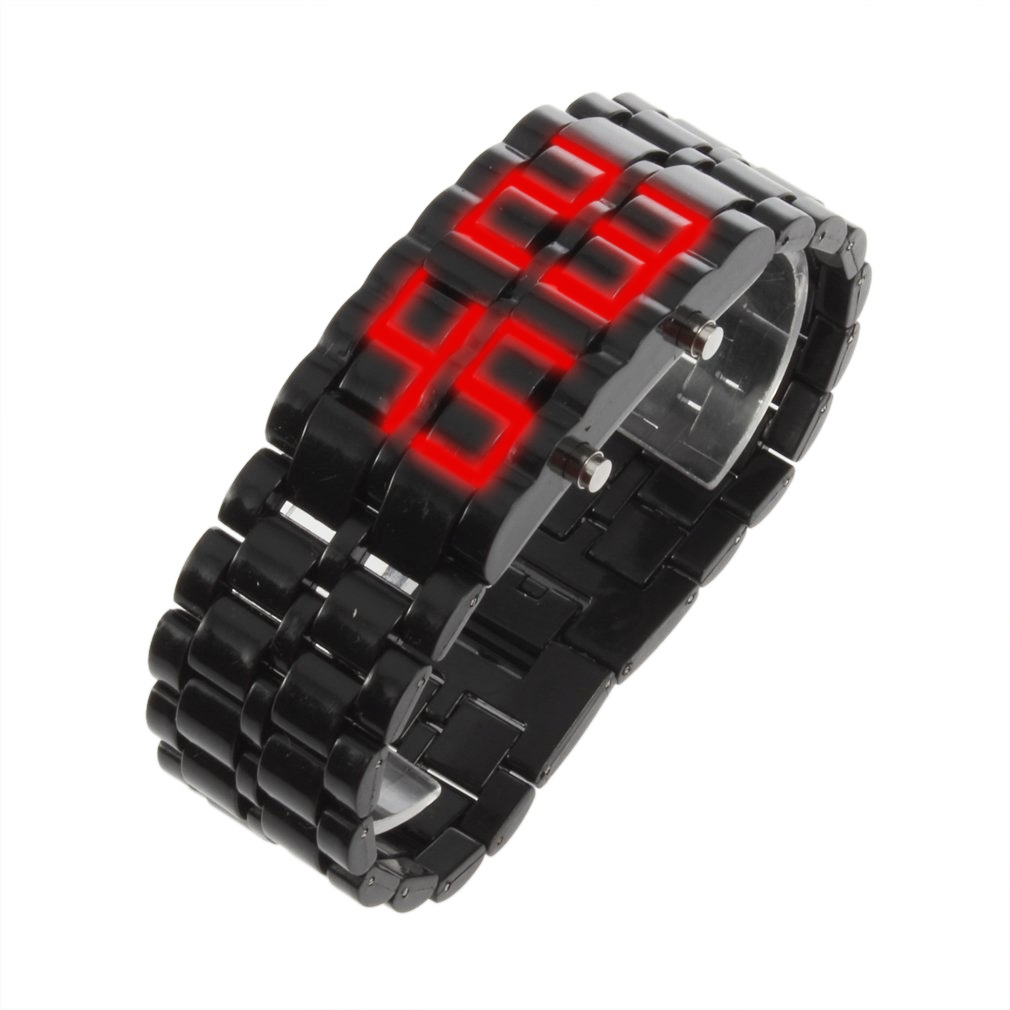 YCYS Fashion LED Digital Lava Wrist Watch Unisex Watches For Men And Women
