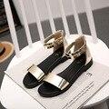 Новое лето яркий цвет женщин сандалии comfortalbe и мягкий досуг стиль обувь для женщин