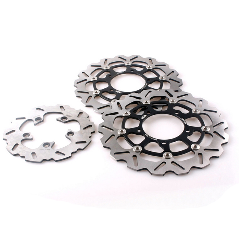 For Suzuki GSXR 600 750 2006-2007 K6 & GSXR1000 2005-2008 K5 K7 Motorcycle Front Rear Brake Disc Rotors Set Floating Disks 3PCS arashi 1pair for suzuki gsxr1000 gsxr 1000 2005 2006 2007 2008 cnc front brake disc brake rotors gsx1000 r motorcycle parts