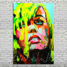 Palette knife portrait Face Oil painting Character figure canvas Hand painted Francoise Nielly wall Art picture 13