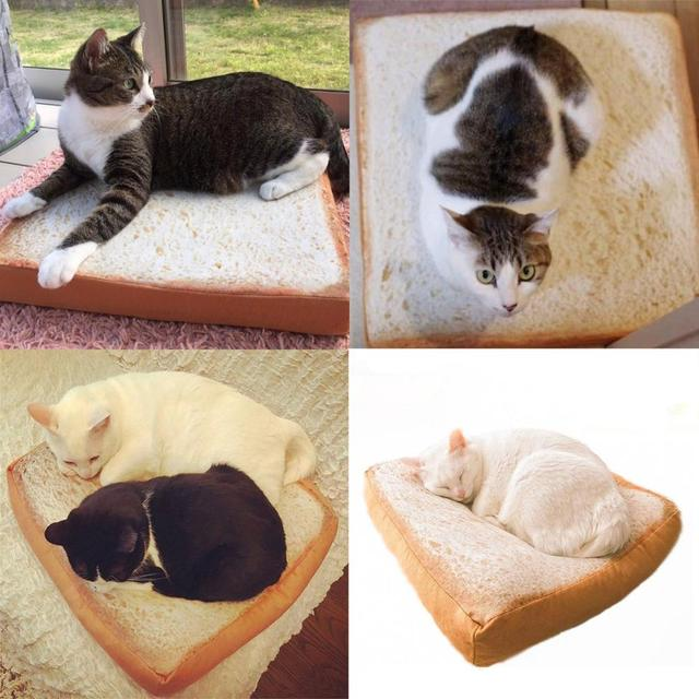 Soft Bread Bed and Fried Egg Blanket for Cats 4