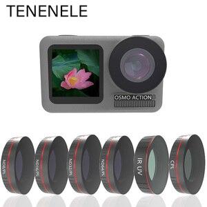 Image 1 - TENENELE Voor OSMO ACTIE Camera Filter UV CPL ND1000 ND4/8/16/32 PL Filters Set Voor DJI osmo Action Optische Glazen Lens Accessoire
