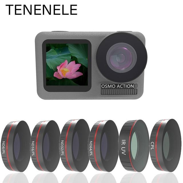 TENENELE Voor OSMO ACTIE Camera Filter UV CPL ND1000 ND4/8/16/32 PL Filters Set Voor DJI osmo Action Optische Glazen Lens Accessoire