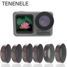 TENENELE pour OSMO ACTION caméra filtre UV CPL ND1000 ND4/8/16/32 PL filtres Set pour DJI Osmo Action optique lentille en verre accessoire