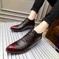 glossy dress bespoke men shoes luxury brand retro italian comfort topsiders footwear flats braided leather oxford shoes for men