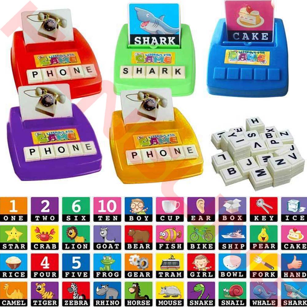 Alphabet Letters Figure Spelling Games Cards English Word ...