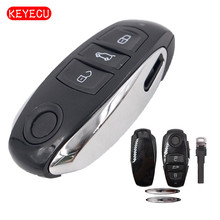 Keyecu Replacement Smart Remote Car Key Shell Case Fob 3 Button for VW Volkswagen Touareg 2011-2014