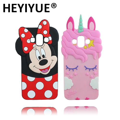 hot sales 77847 bdec4 US $3.65 |New J7 Duo Cartoon Case Hot Selling Unicorn Minnie Mouse Shape  Soft Cell Phone Back Cover Cases For Samsung Galaxy J7 Duo J720F-in Fitted  ...