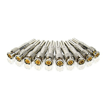 SANNCE Hot 10 Pcs Solder Less Twist Spring BNC Connector Jack for Coaxial RG59 For CCTV Camera Surveillance Kit System