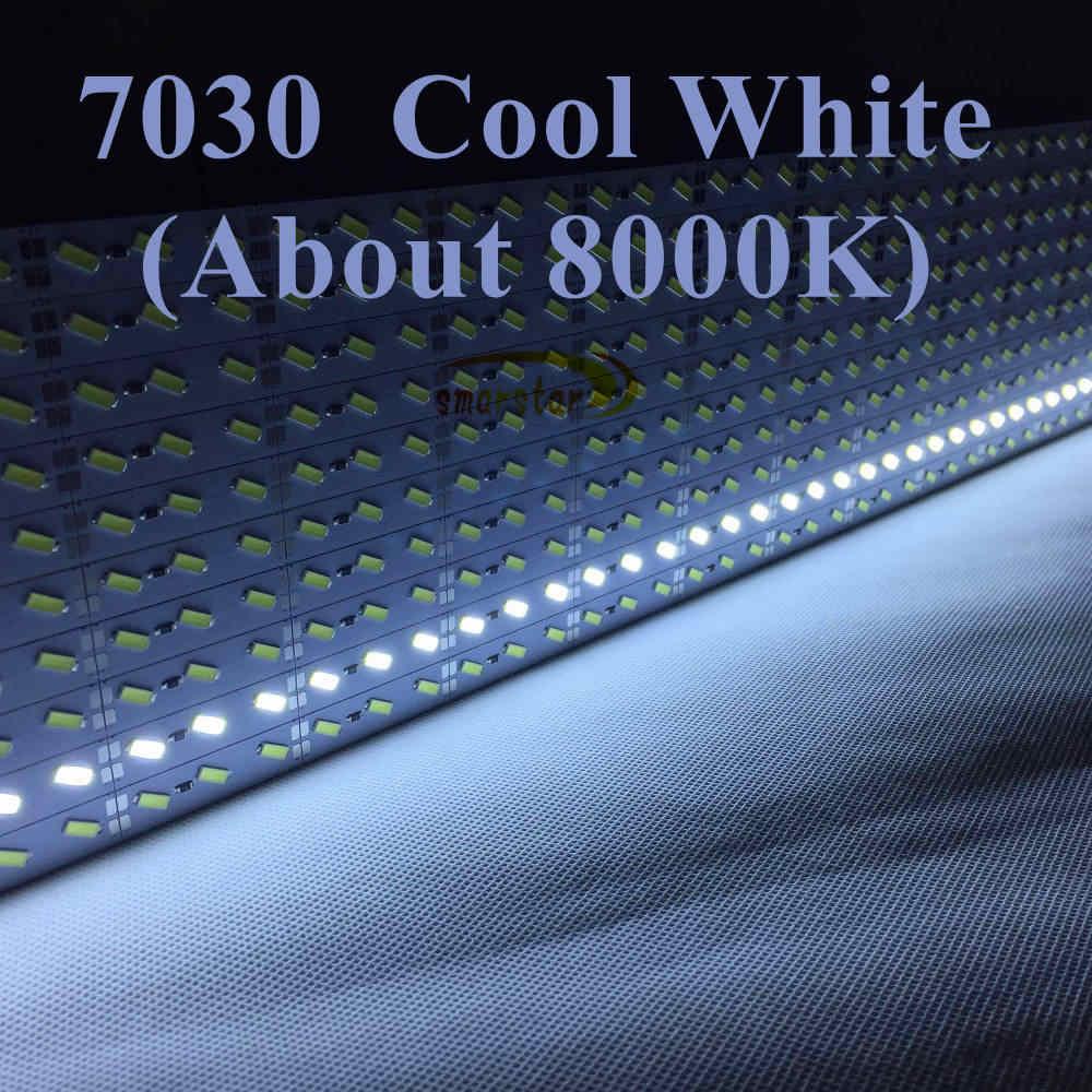 Smarstar 12 V 0,5 m 36 светодиодный 7030 SMD Светодиодные ленты бар свет u-образный Алюминий чехол светодиодная крышка для ПК Light Главная автомобилей Белый Освещение #7