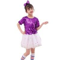 Children's Sequined Pengpeng Dress Jazz Dance Costumes Kids Dance Costumes Cheerleading Dance Costumes