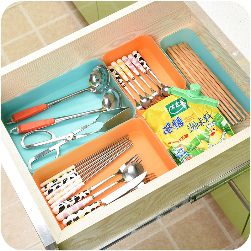 Multifunctional Drawer Plastic Storage Box Thickened Without Lid Kitchen Bathroom Accessories Classification Finishing Box C5