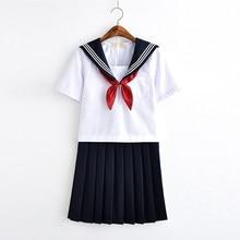Uniforme scolaire japonais, uniforme scolaire de classe pour filles blanches, uniformes d'étudiants de marin de la marine, costumes de marin Cosplay Anime 2021