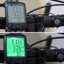 Ordenador de bicicleta A Prueba de agua Multifunción Ciclismo Computadora de La Bicicleta Bike Computer Velocímetro Cuentakilómetros LCD Backlit