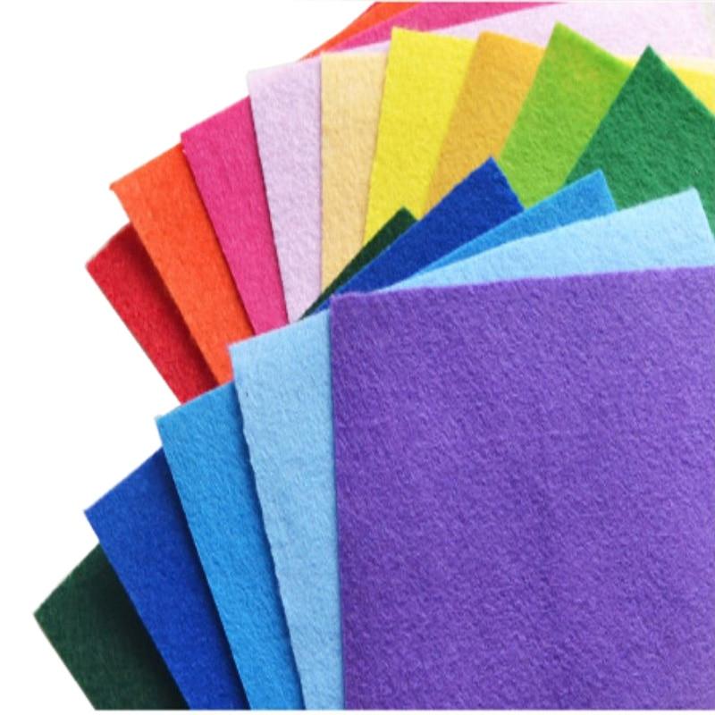 30*30 Cm High Quality Felt Fabric DIY Craft For Kids Felt Leave Flower Toys Gifts Sewing Storage Bags Wool Felt Doll Decor Cloth