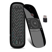 W1 Fly Air Mouse Wireless Keyboard Rechargeable English for Android Remote Control 2.4G Mention Sensing Air Mouse For TV Box PC все цены