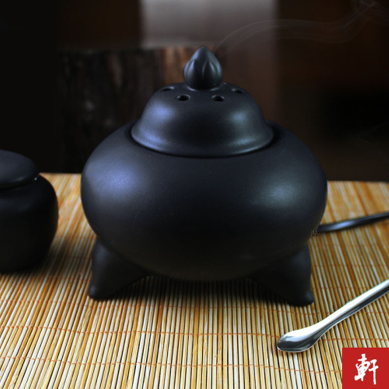 Ceramic Lavender aromatherapy furnace thermostat timing the electronic incense burner censer Aloes essential oil furnace