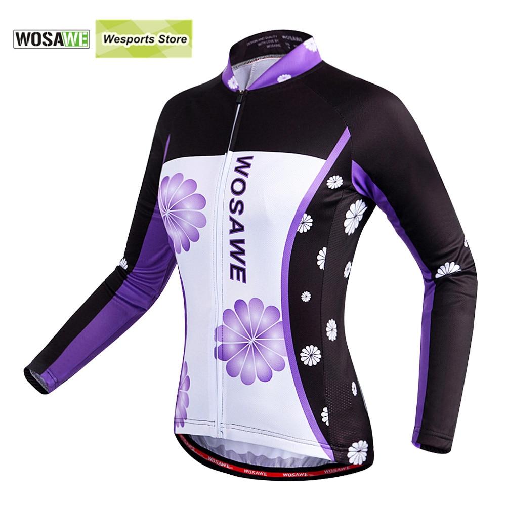 Prix pour WOSAWE À manches Longues Maillots de Cyclisme des Femmes Vélo Vélo Sport maillot ciclismo Chemises respirant VTT Vélo Vêtements