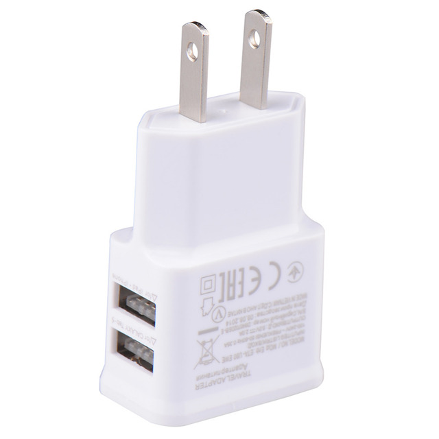 5V 2.0A US Plug Dual Double USB Universal mobile phone charger Wall AC Power Charger Home or Travel For iphone ipad ipod Samsung