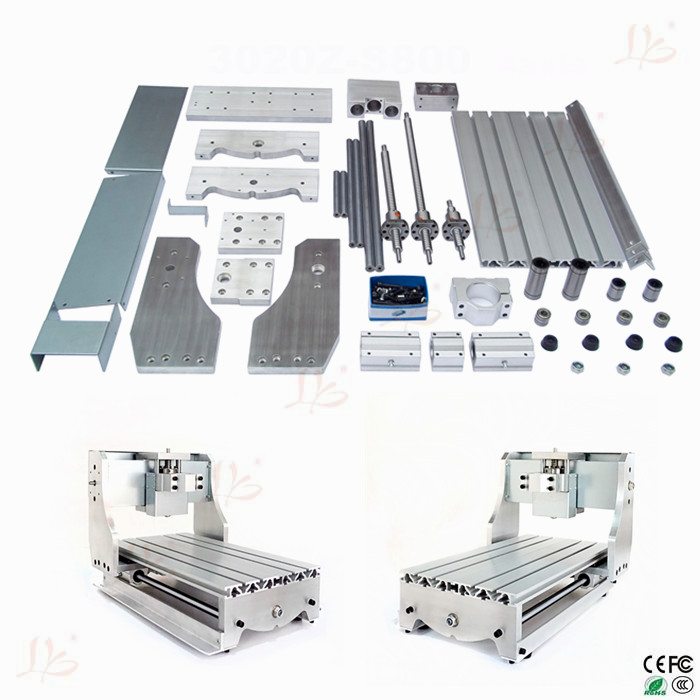 CNC 3040Z DIY CNC Bed Frame Kit with ball screw driving units optical axis and bearings for mini cnc router