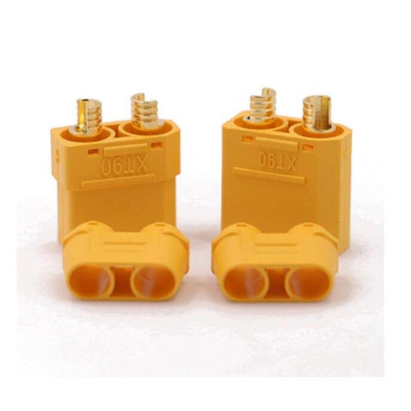 10 шт. Amass XT60 XT90 XT30 мужские и женские разъемы банановые пробки медные пули Позолоченные RC части для Lipo батареи XT-60 XT-90 - Цвет: XT90H