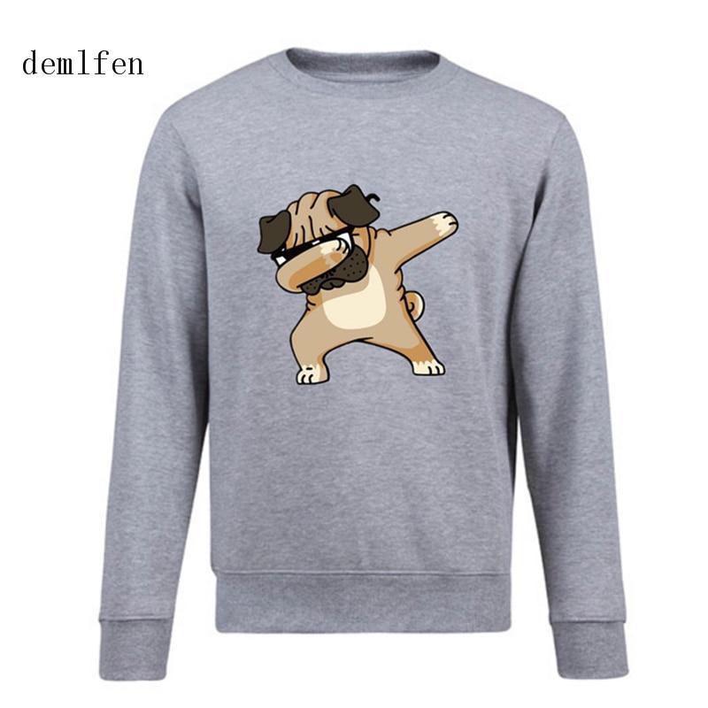 Pug Off Funny Mens Sweatshirt