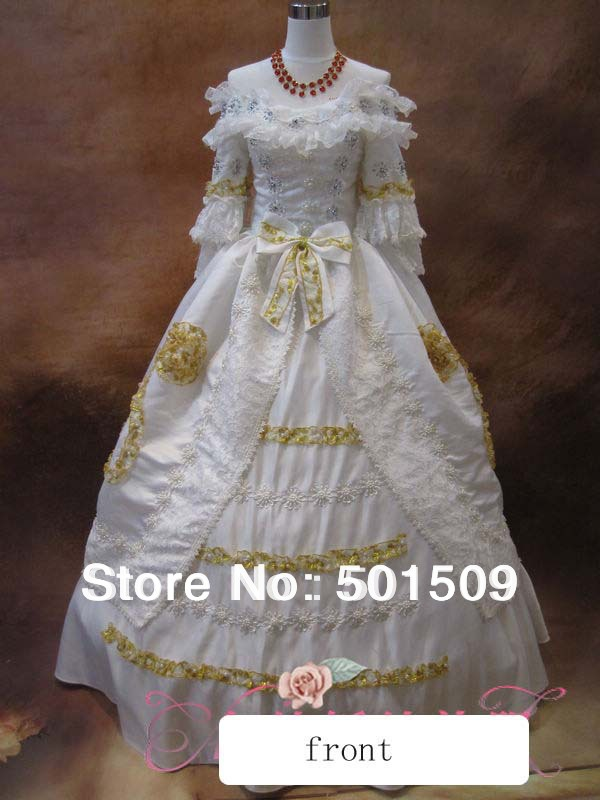 luxury Medieval Renaissance Gown snow white princess Dress event Costume Victorian Gothic Marie Antoinette Colonial Belle