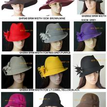 Новое поступление шерсть фетровая шляпа/Зимняя шляпа/шляпка для церкви/Кентукки Дерби/Ascot, в смешанном стиле и смешанных цветов