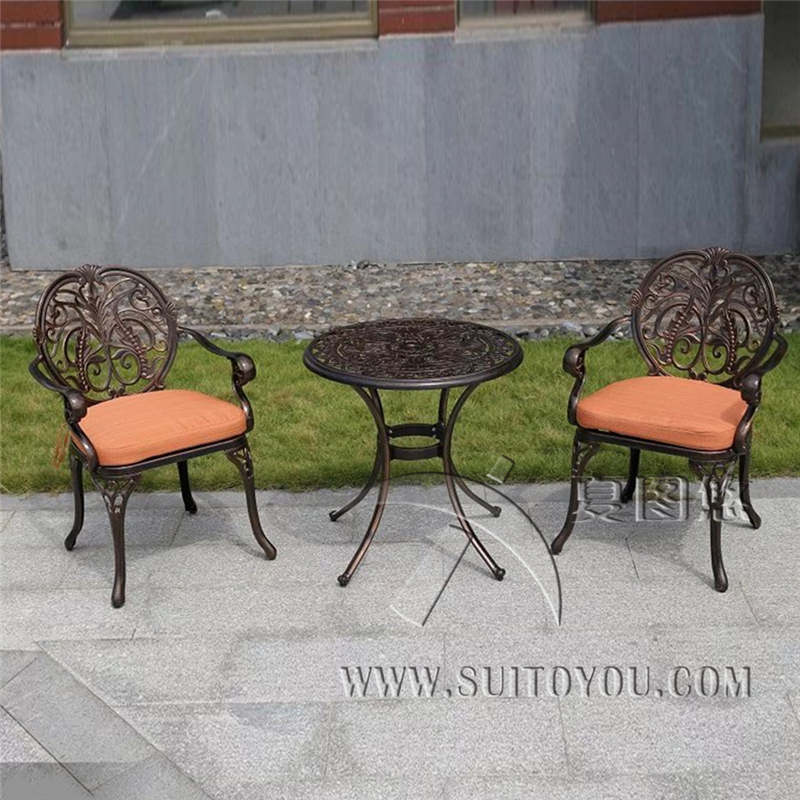 3-piece cast aluminum chair with arm K/D patio furniture garden furniture Outdoor furniture for house decor 5 piece cast aluminum patio furniture garden furniture outdoor furniture