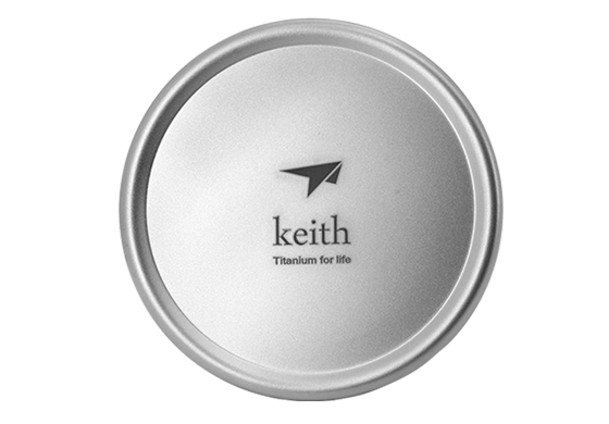 Keith Mini Portable Ti81 Camping Double Walled Titanium Drinkware Titanium Lid+Titanium Cup/ 300ml Free Shipping