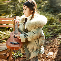 Russian Winter Kids Snowsuit Hoodies Warm Girls Down Coat Real Fur Collar Duck Down Filler Thick Toddler Girls Outwear Jackets