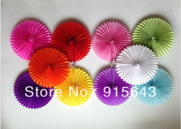 10 10ps Mixed Color Honeycomb Flower Lantern Fan Design Paper
