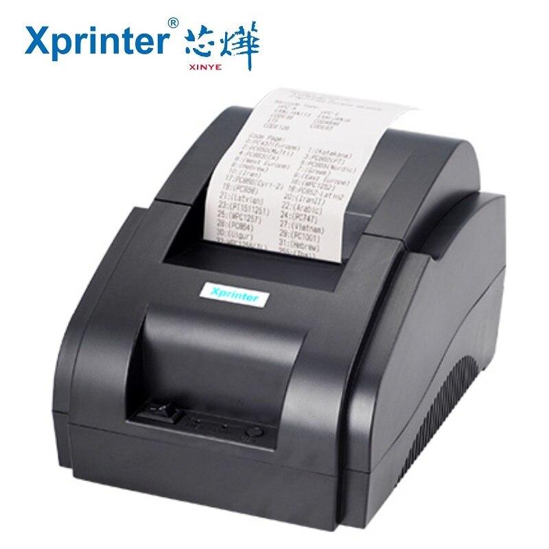 Mini imprimante thermique de billet de 58mm imprimante thermique de position de 58mm Interface USB imprimante de facture de Restaurant d'imprimante de reçu de position de 58mm