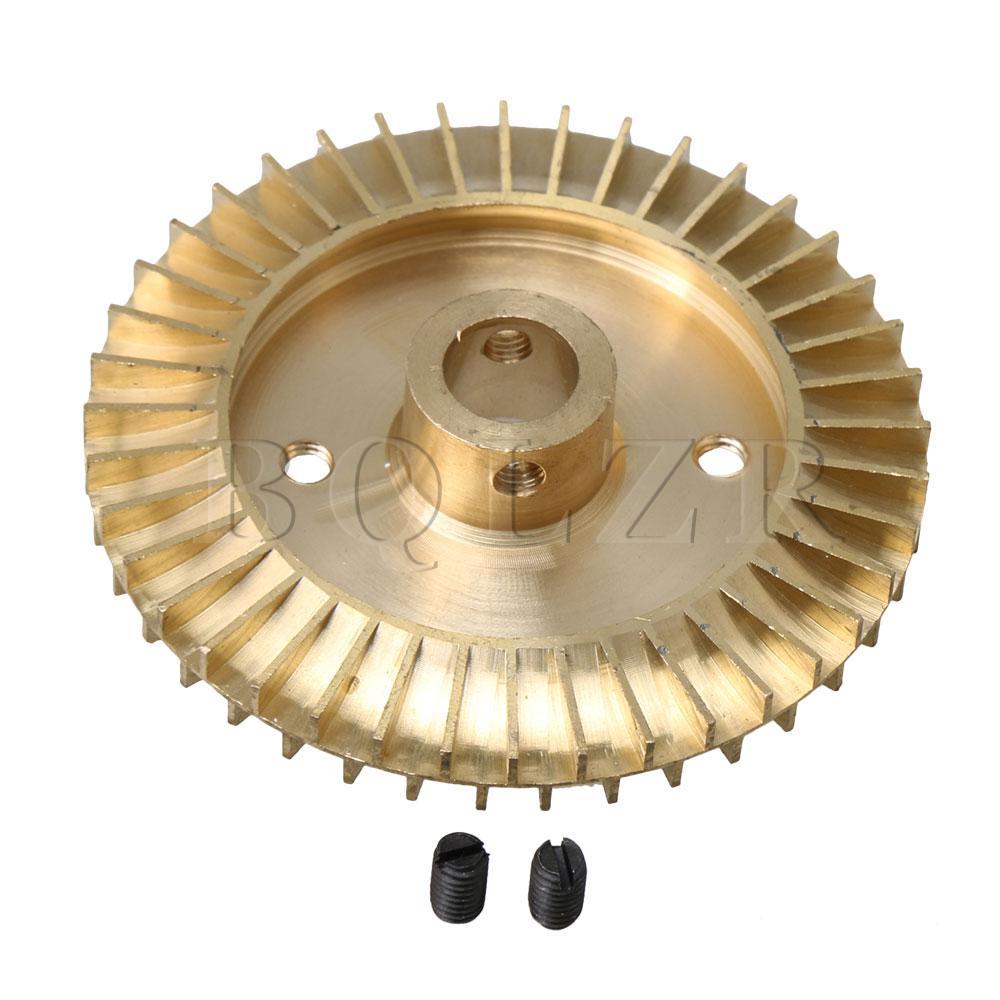 Home Hingebungsvoll Bqlzr 12mm Innen Loch Wasserpumpe Ersatzteil Solt Loch Doppelseitige Messing Laufrad Rad 75mm Durchmesser Goldene
