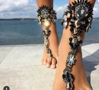 2017 Boho Sandals Ankle Bracelet Silver Plated Wedding Barefoot 23 9cm Sandal Beach Foot Jewelry Sexy