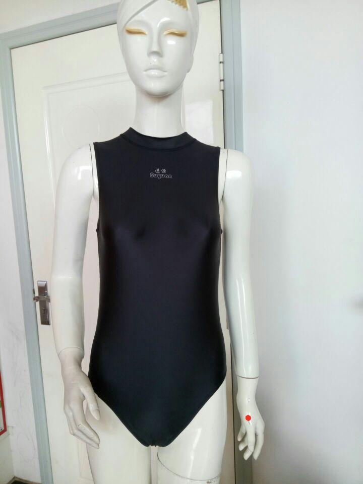 Einteilige Damen-Badebekleidung mit hohem Kragen für Damen-Renn- und - Sportbekleidung und Accessoires - Foto 5