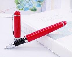 Duke D2 klasyczne pióro kulkowe czerwony beczka i srebrny klip zaawansowanego pisania prezent długopis biuro biznes strona główna artykuły szkolne