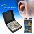 Pequeno Aparelho Auditivo amplificador de Som XM-907 Aparelhos Auditivos Amplificador de Voz para o Ajuda Surdo do ouvido com 3 Plugue de Orelha Macio audifonos parágrafo sordos