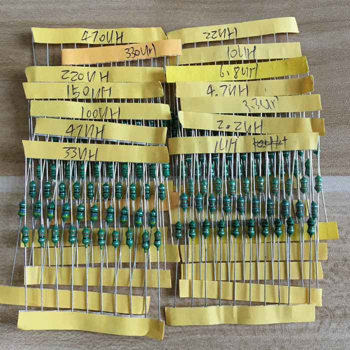 Free Shipping 0307 1uH To 470uH Inductor, 14valuesX10pcs=140pcs,,color Ring Inductor Assorted Kit