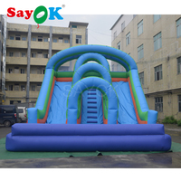 Customized Commercial Giant Inflatable Slide, Inflatable Water Slide With Pool