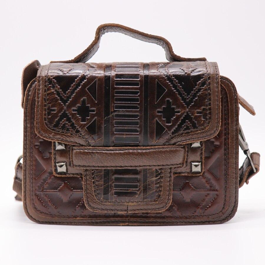 Brand Luxury Flower Engraved Genuine Leather Messenger Bag Women's Handbag Crossbody Shoulder Bag Casual&Business Travel Pack
