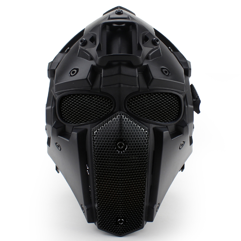 WoSporT Full Face Airsoft Helmet with Mask Steel Goggles Breathable Fan Adjustable Military Tactical Airsoft Paintball BB Helmet wosport new powerful advance super luxurious army military airsoft paintball suit for tactical gear include uniform mask goggles