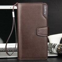 Männer Brieftasche Baellerry Business Casual Stil Leder Reißverschluss Große Kapazität Lange Kupplung Brieftasche Männlichen Solide Kartenhalter Weiche Handtasche