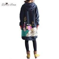 BelineRosa 2017 Women S Winter Coats Korean Fashion Character Printing Fleece Lining Plus Size Clothing Without