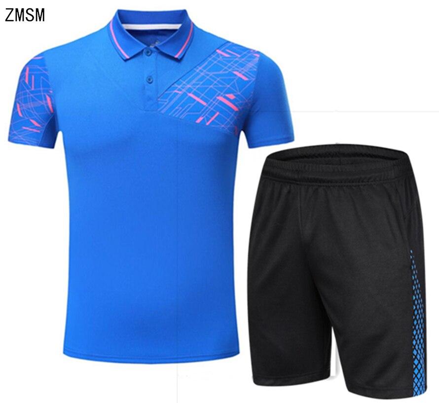 Bescheiden Zmsm Herren Tennis Shirts Perfekte Qualität Atmungs Umlegekragen Sport Badminton Tischtennis Shirt Shorts Kit Jun7017 Fabriken Und Minen